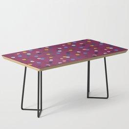 Purple Confetti Spot Coffee Table