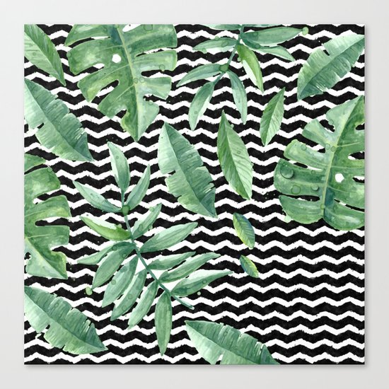 Tropical Geometry Canvas Print