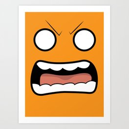 Scary Face Art Print