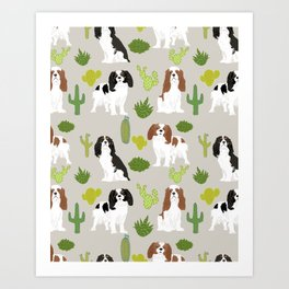Cavalier King Charles Spaniel must have gift accessories for dog breed owner king charles dog Art Print