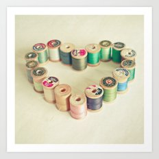 I Heart Sewing Art Print