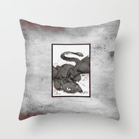 toothless Throw Pillows featuring Toothless by SpaceMonolith