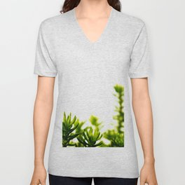 Evergreen Greenery (Color) Unisex V-Neck