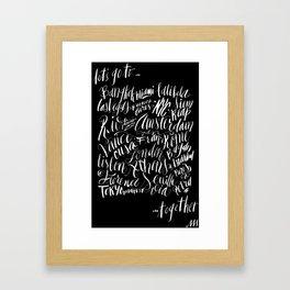 """""""Let's Go To..."""" Print Framed Art Print"""