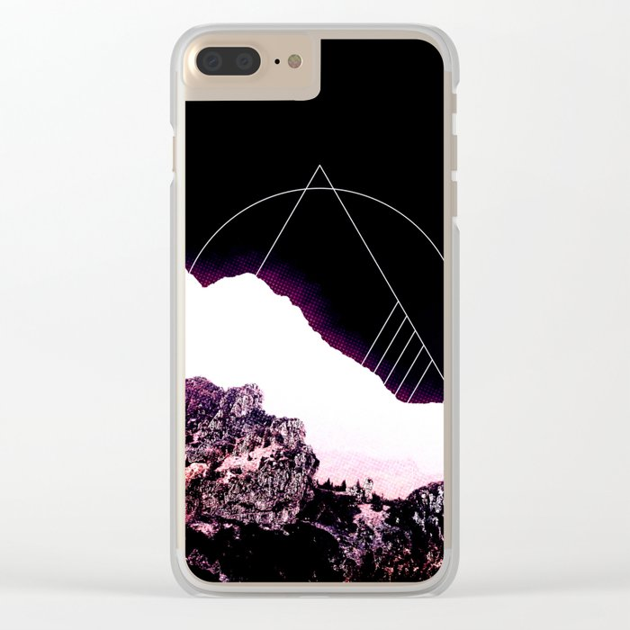 Mountain Ride Clear iPhone Case