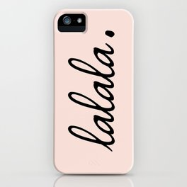 lalala pink punch iPhone Case