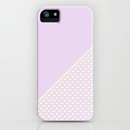 Heartless 2 - Lavender + White/ Yellow iPhone Case
