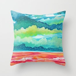 Abstract Seascape IV Throw Pillow