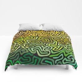 Green Worms Comforters
