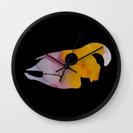 Goat Skull Art Wall Clock