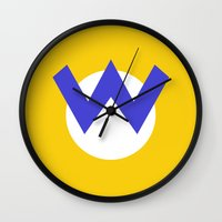 nintendo Wall Clocks featuring Nintendo Wario by JAGraphic