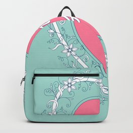 pink heart with love Backpack