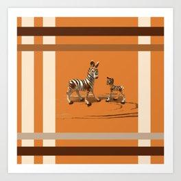 Butterscotch Stripes Art Print