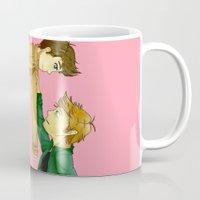 destiel Mugs featuring Destiel by doodle bags