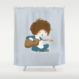 Curly Bob Shower Curtain