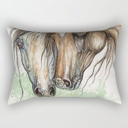 Horse cuddles Rectangular Pillow