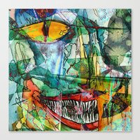 cheshire Canvas Prints featuring Cheshire by Eliya Stein