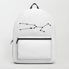 Taurus Star Sign Black & White Backpack