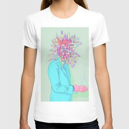 Psychedelic face T-shirt