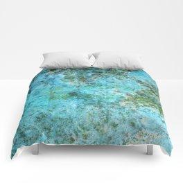 Moment of Epiphany: Aqua-Blue Version Comforters