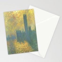 Claude Monet's Parlament in London Stationery Cards
