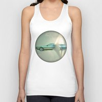 delorean Tank Tops featuring Supersonic Delorean by Vin Zzep