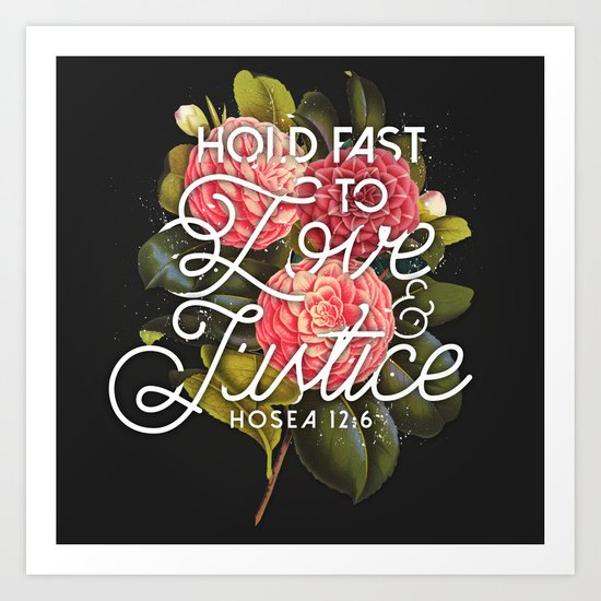 Love and Justice Art Print