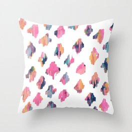 Abstract Ogee, Moroccan Tile Pattern Throw Pillow