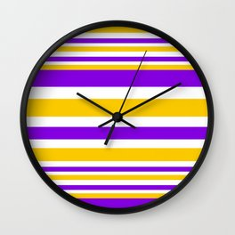 A fun striped pattern Wall Clock