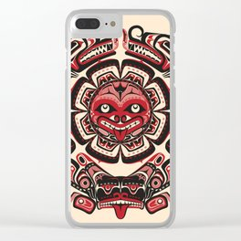 Sisiutl - The Two Headed Serpent Clear iPhone Case