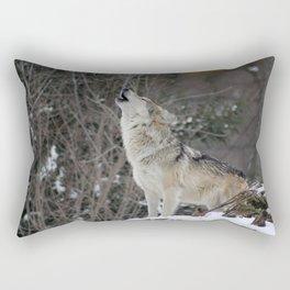 Howling Wolf Rectangular Pillow