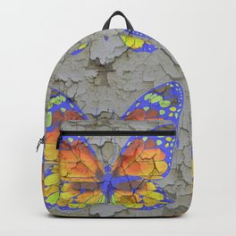SHABBY CHIC YELLOW & BLUE BUTTERFLIES Backpack