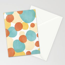 Retro Paster Circles Pattern Stationery Cards