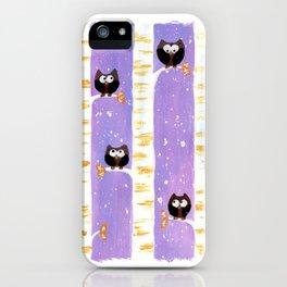 Four Owls iPhone Case