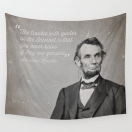Abraham Lincoln Quote Wall Tapestry