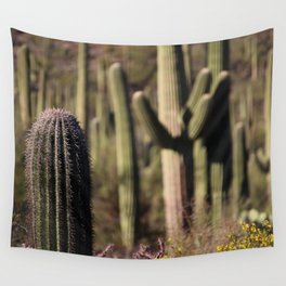 Cactus in Saguaro National Park Wall Tapestry
