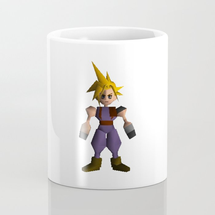Cloud Low Poly - Final Fantasy VII Coffee Mug