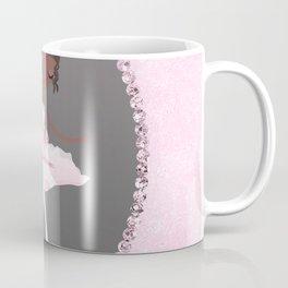 Pink & Grey Brown Ballerina Dancer Coffee Mug