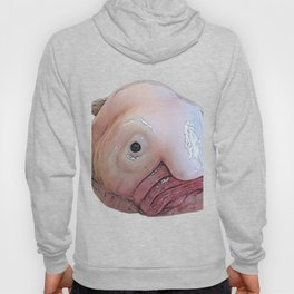 Blobfish Fathead Lousy Slimy Body Large Disgusting Fish Hoody