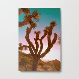 Joshua Tree Desert Sunset Metal Print