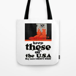 Keep These Off The USA Tote Bag