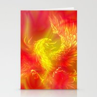 phoenix Stationery Cards featuring Phoenix by Paula Belle Flores