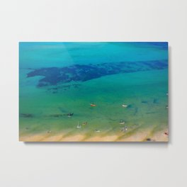 Indian Ocean Boats II; Landscape Photo with Vivid Colors, Abstract Feel Metal Print