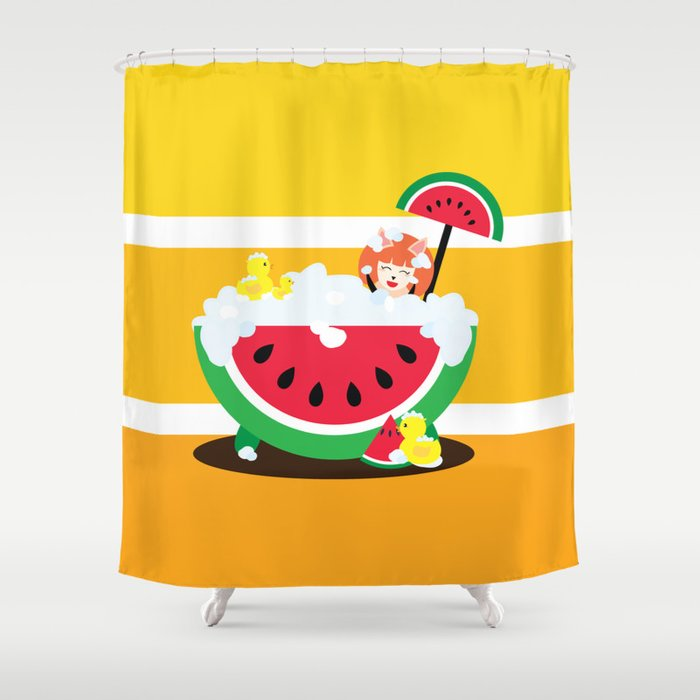 Watermelon Bath Shower Curtain