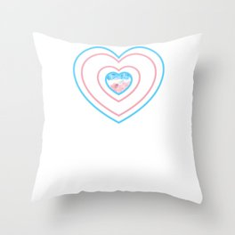 Gay Pride LGBT Transgender Love Heart Stripes design Throw Pillow