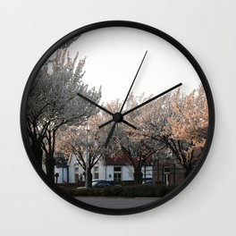 Flower Photography by Veerle Contant Wall Clock