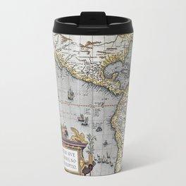 America Old Map 1570 Travel Mug