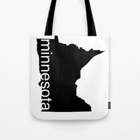 minnesota Tote Bags featuring Minnesota by Isabel Moreno-Garcia