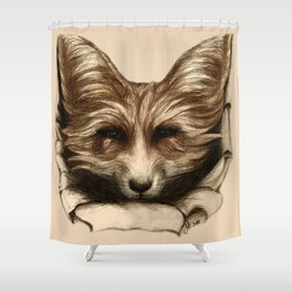 Hallo Fuchs! Mixed Media Art Shower Curtain