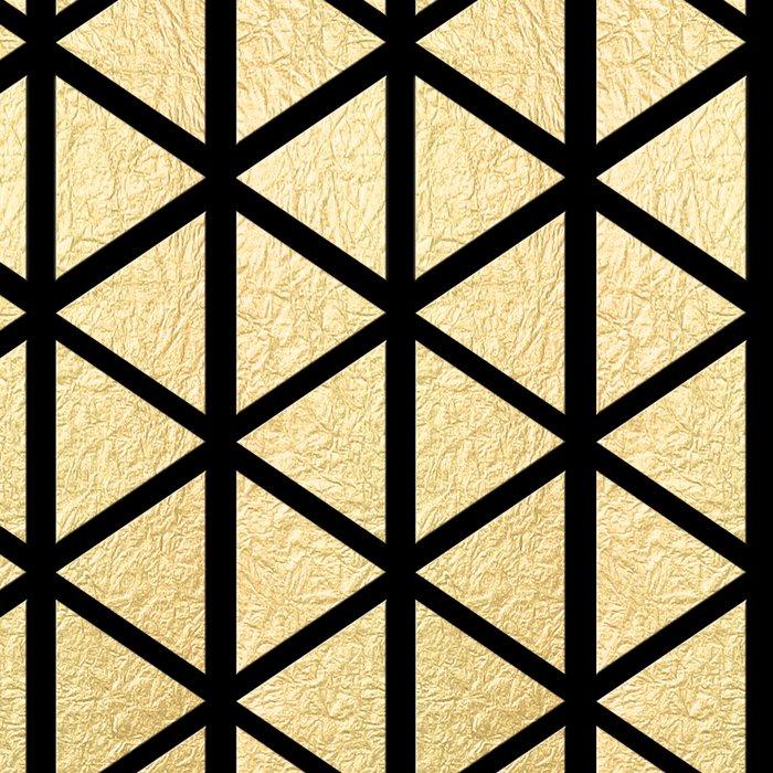 Black and Gold Geometric Pattern 3 Leggings
